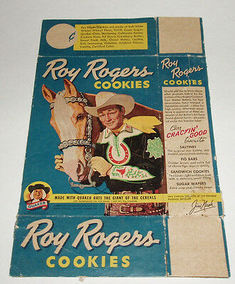 1950's Quaker ROY ROGERS Cookie Box western