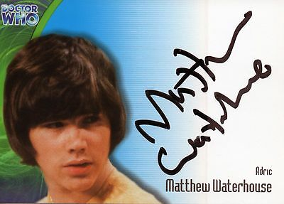Doctor Who Autograph Card - Matthew Waterhouse as Adric - Strictly Ink AU3