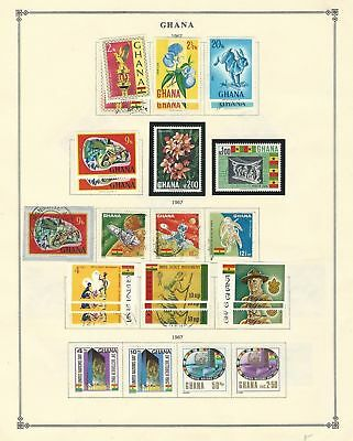 Ghana Collection 1967-1972 on 12 Scott International Pages, Mint Sets