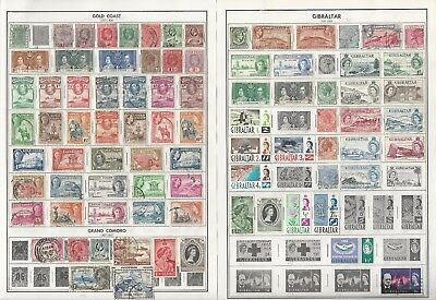 Ghana, Gibraltar, Gold Coast, Great Britain Collection On 20 Harris Pages