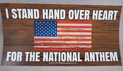Wholesale Lot Of 20 I Stand Hand Over Heart For National Anthem Sticker Trump Us