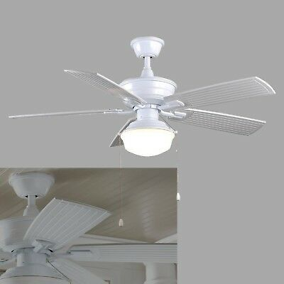 Home decorators al499 wh marshlands led 52 in indoor outdoor white ceiling fan