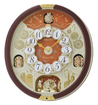 Seiko Melodies In Motion Collectors 24 Classic & Christmas Melodies Wall Clock