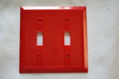 Vintage GITS Molding Corp. Double Switch Plate Cover RED *NOS*