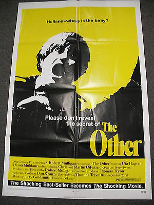 """1972 ORIGINAL 27x41"""" POSTER FOR """"THE OTHER"""" BASED ON THOMAS TRYON`S HORROR NOVEL"""