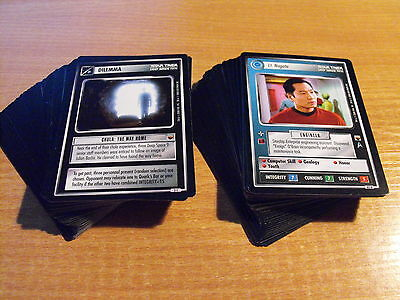 Star Trek CCG Trouble With Tribbles Komplettset Common und selten Karten