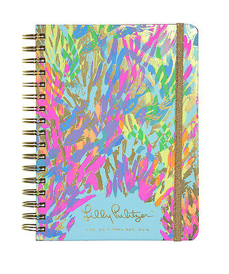2017-2018 Lilly Pulitzer Large Agenda SPARKLING SANDS Datebook Planner Calendar