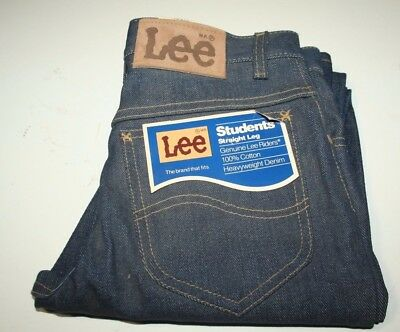 Vintage LEE Students Straight Leg Denim Jeans, Lee Riders, Blue, W27-L30, USA