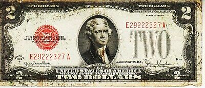 SERIES 1928 G    Red Seal $2.00 United States Note-