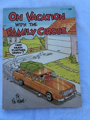 On Vacation With Family Circus Book 1980