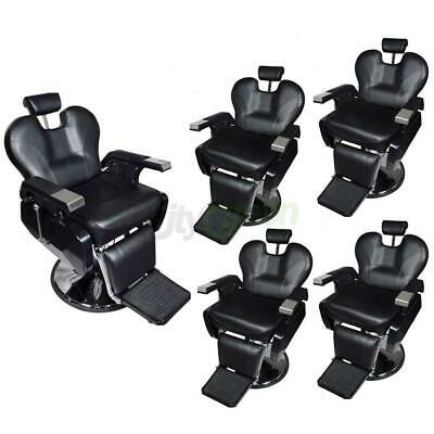 Set Of 5 Hydraulic Recline Barber Chairs Salon Beauty Spa Hair Styling  Equipment