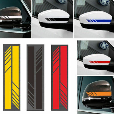 2pcs Auto Car SUV Vinyl Graphic Car Body Sticker Side Stripe Decal DIY Decals