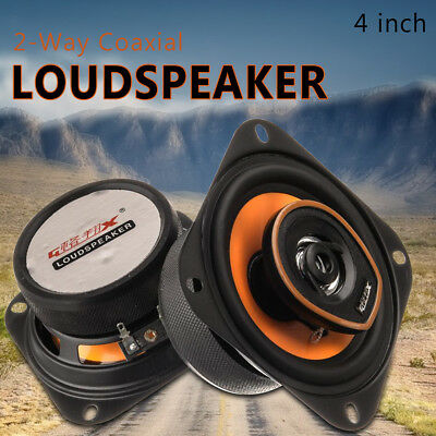 2Pcs GX-481 250W 4'' 2-Way Bass Auto Car Coaxial Speakers Audio Music With Wires