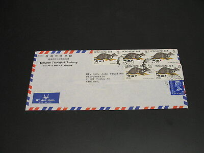Hong Kong 1990s? Airmail cover to Finland 30c faulty *30016