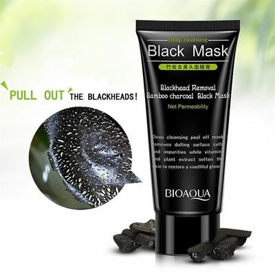 Blackhead Removal Bamboo Charcoal Peel Off Black Skin Face Mask Deep Cleaning