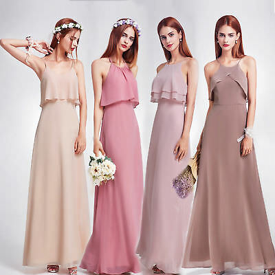Ever-Pretty Long Wedding Dresses Gown Backless Evening Prom Bridesmaid Dresses