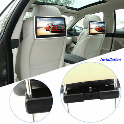 "2PCS 10.1"" 1024*600 HD LCD Car Headrest Monitor DVD Player HDMI/USB/SD/IR/FM Kit"