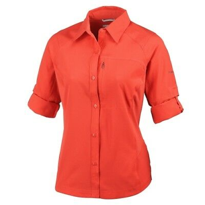 Columbia Silver Ridge L/S Shirt women sail red Damenbluse rot Freizeit Wandern