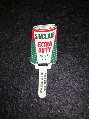 Vintage Sinclair Extra Duty Oil Dipstick Tag AC Filters Free Shipping