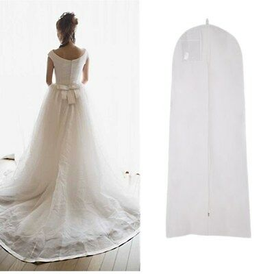 White Wedding Dress Bridal Gown Garment Dustproof Breathable Cover Storage Bag