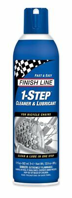 Finish Line 1-Step Bicycle Chain Cleaner & Lubricant 17oz Spray Can