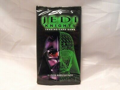 STAR WARS JEDI KNIGHTS TCG SEALED BOOSTER PACK OF 11 CARDS 1st DAY OF PRINTING