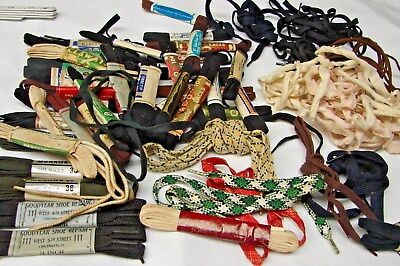 Large Lot Of Vintage Boot & Shoe Laces Klondike Goodyear Shoelaces