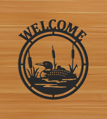 Loon Welcome Sign - Waterfowl Decor
