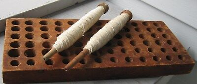 Antique Wooden Spool Holder 72 Holes, Various Sizes