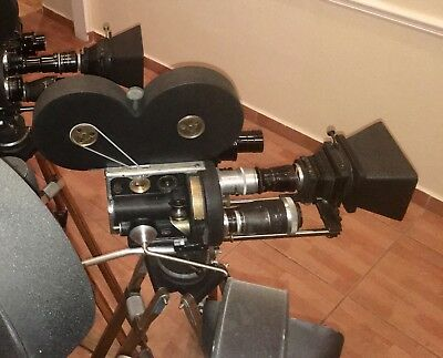 Bell & Howell 2709 35mm Camera Outfit Hand Cranked Lenses, Tripod, finder more!