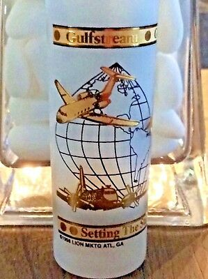 Gulf Stream Aerospace Vintage Double Shot Glass 24k gold  Details