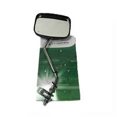 Pro Series Bike Rear View Safety Mirror Oblong Black 12cm x 9cm for Bicycle