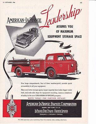 AMERICAN LaFRANCE LEADERSHIP IN STORAGE SPACE  1946 AD               7174
