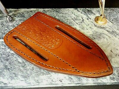 BROWN SADDLE BELT SHEATH for Fixed Blade Knife With Belt Loops
