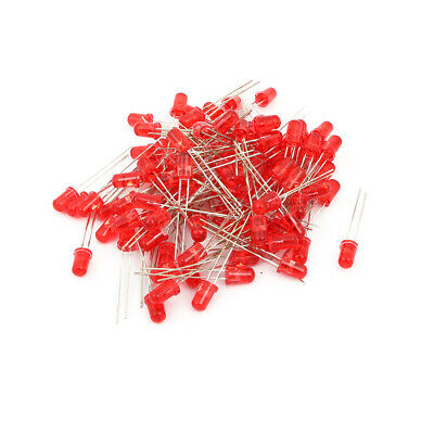 DC 2.0-2.2V 20mA Super Bright LEDs 5mm Red Lamp Emitting Diodes 100pcs