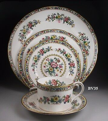 COALPORT MING ROSE scalloped 5 PIECE PLACE SETTING - SETTINGS - NEW- PERFECT