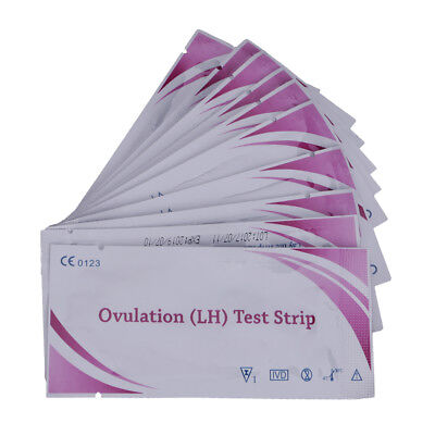 Novel 10Pcs Accurate Ovulation (LH) Test Strips Predictors High-Sensitivity Easy