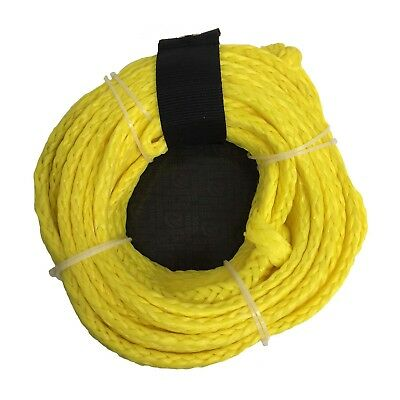 Riders Inc 3 Person Water Ski Biscuit Inflatable Tow Tube Rope-YELLOW