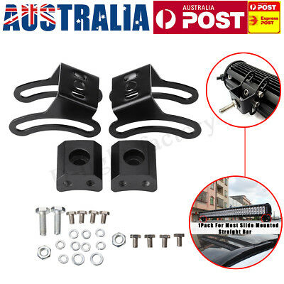 AU 2 Set LED Slide Mount Base Bracket Holder For Most Mounted Straight Light Bar
