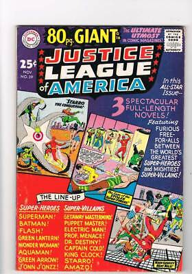 Justice League of America # 39  80 page Giant  grade 6.0 scarce book !!