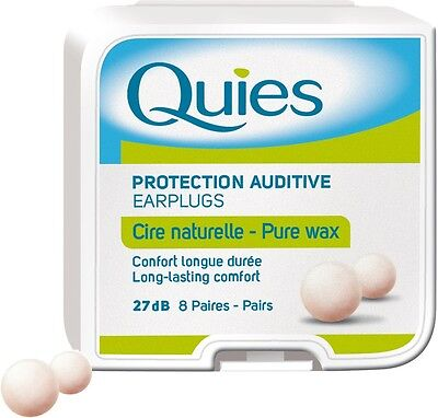 2 X Quies Protection Auditive Earplugs - 8 Pairs