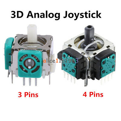 Original Replacement 3D Analog Joystick 3 Pins/4 Pins For Sony Playstation PS3