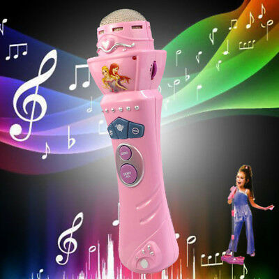 Girls Wireless LED Microphone Karaoke Singing Kid Funny Musical Music Toy Gift