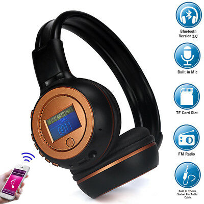 B570 Foldable Wireless Bluetooth Headphones Stereo Headband Headset Built-In Mic