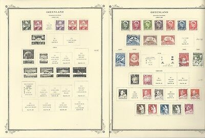 Greenland Collection 1938-1980 on 7 Scott Specialty Pages