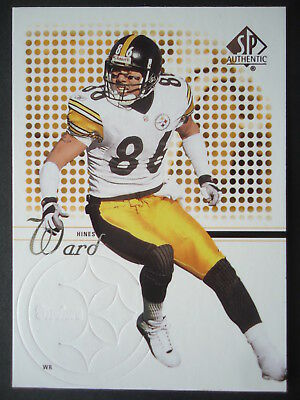 NFL 10 Hines Ward Pittsburgh Steelers Upper Deck 2002 SP Authentic