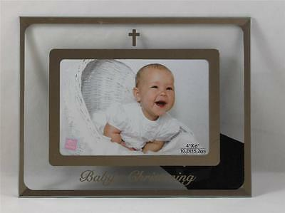 Russ Berrie Baby Photo Frame Small Blessings Babys Christening NEW Clear