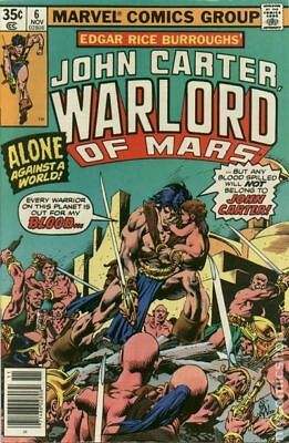John Carter Warlord of Mars (1977 Marvel) #6 FN STOCK IMAGE