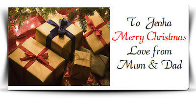 christmas labels sticker personalised xmas gift wrapping party