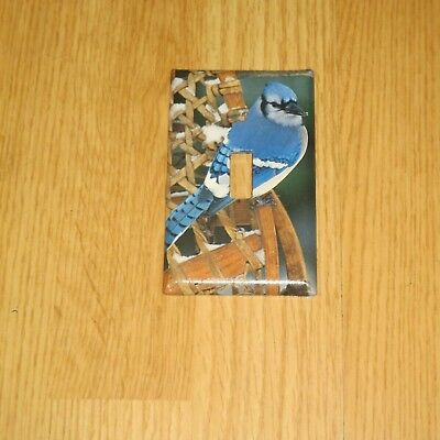 Classic Blue Jay Bluejay Wild Bird Light Switch Cover Plate #6